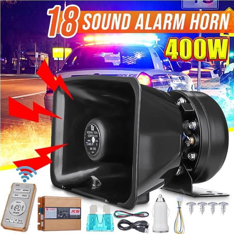 400 W 18 Suara Alarm Mobil Fire Police Keras Remote Sirene Peringatan Speaker Klakson