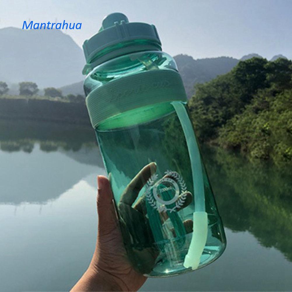Mantrahua 1L Lớn BPA Free Thể Thao Phòng Tập Thể Dục Đào Tạo Nước Uống Lớn Chai Nước Thể Thao Ngoài Trời Và Thể Dục Chai Nước