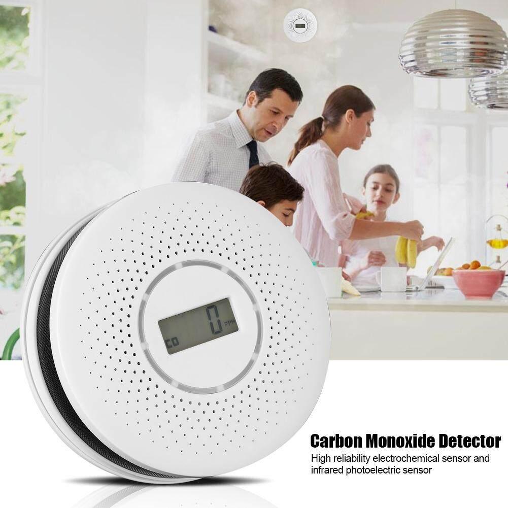 Carbon Monoxide CO & Smoke Combination Sound Alarm Monitor Detector Fire Sensor