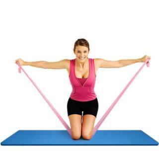 3 Chiếc Dây Tập Thể Dục Thể Hình Pilates Yoga Co Giãn Kháng Lực Kéo Dài 1.5M thumbnail