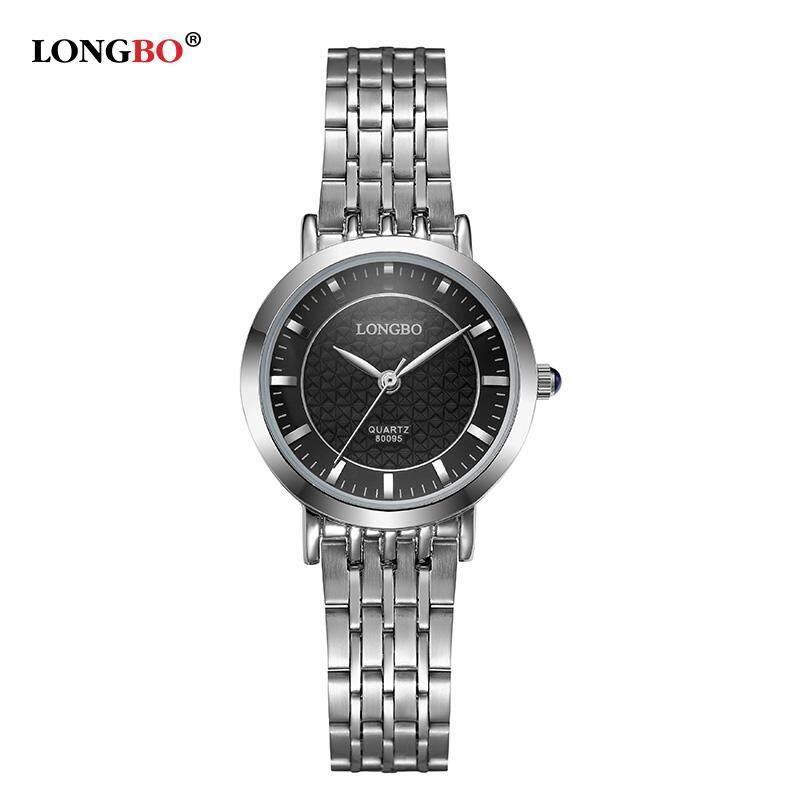 Ready Stock!Long Bo Womens Business Luxury Fashion Metal Strap Analog Quartz Watches Waterproof 80095 Malaysia
