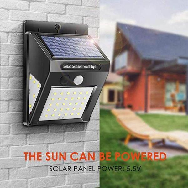 Big House 3 Mặt LED Năng Lượng Mặt Trời Đèn Tường Cảm Biến Chuyển Động IP65 Không Thấm Nước Cho Ngoài Trời Đường Vườn Sân Đèn An Ninh