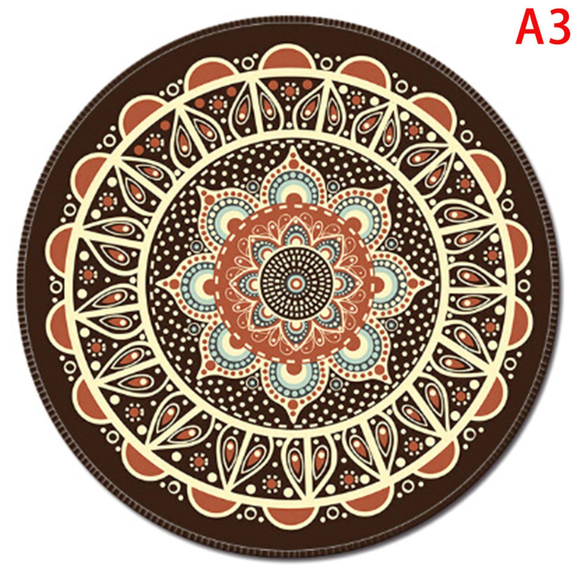Sissi Vintage Bohemian Round Computer 3d Game Carpet Mouse Pad Mat Anti Slip Mousepad Malaysia