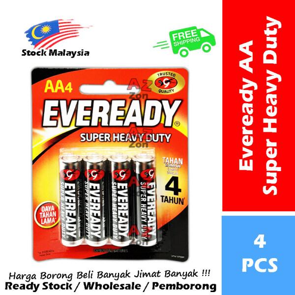 Eveready Heavy Duty Battery / Super Heavy Duty AA / AAA 【4-PCS】#1012 #1015 #1215 #1212 #BP4