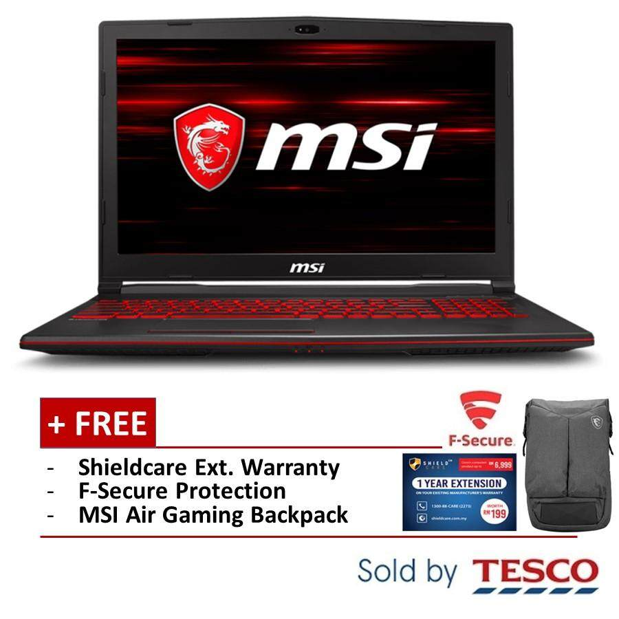 [11.11 Mega Offer] MSI GL63 9SC-204MY Gaming Laptop (i5-9300H/ 8GB/ 256GB) + Ext. warranty + Fsecure Malaysia