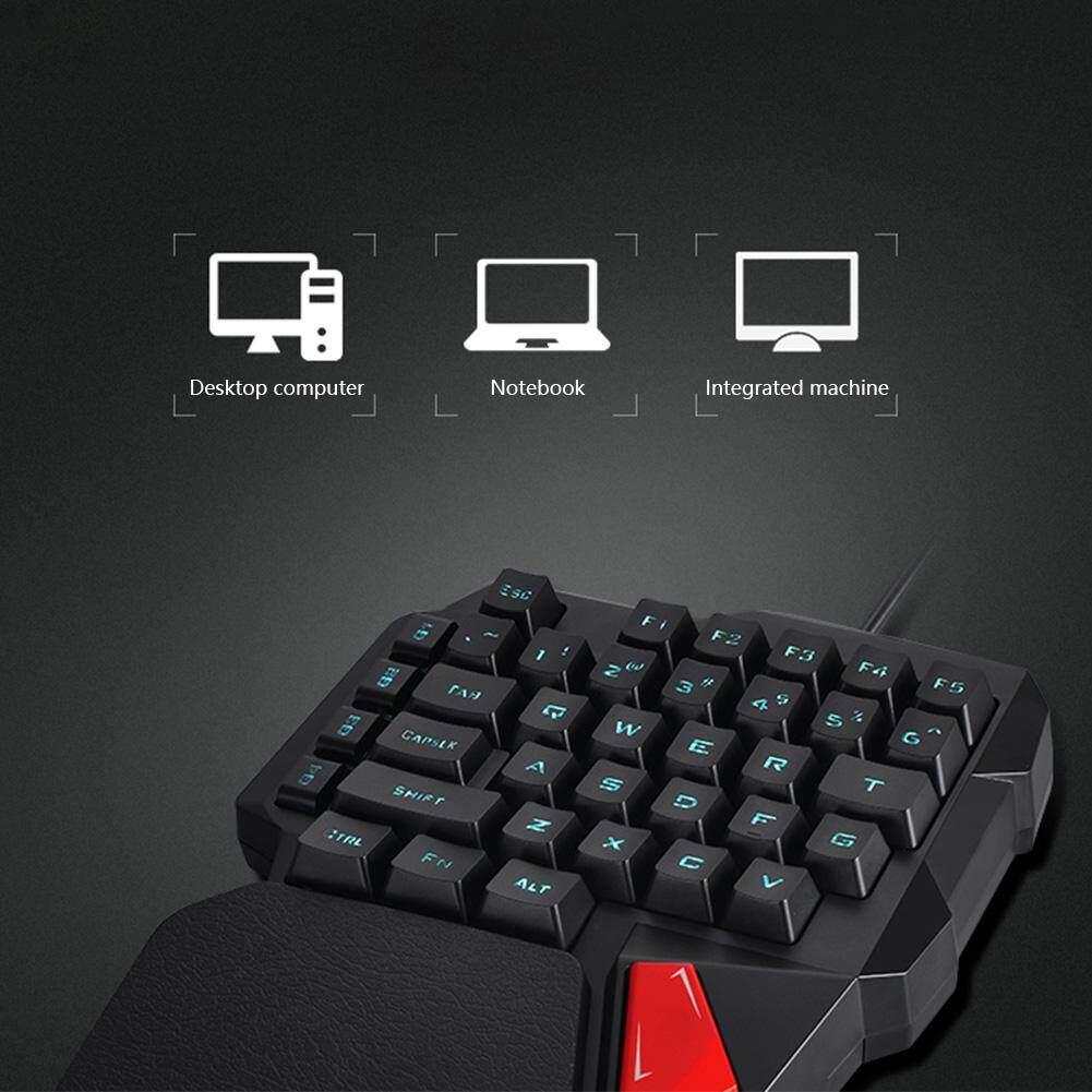 Trò chơi Thực Hành Giả Cơ Khí Để Bàn Laptop Có Dây Di Động Nhẹ Đèn Nền Bàn Phím