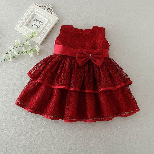 aee0372b65 Product details of New Baby Girl Dress Hollow Lace Princess Infant Wedding  Party Dresses Red White Newborn Gown baby girl clothes 0-24 month