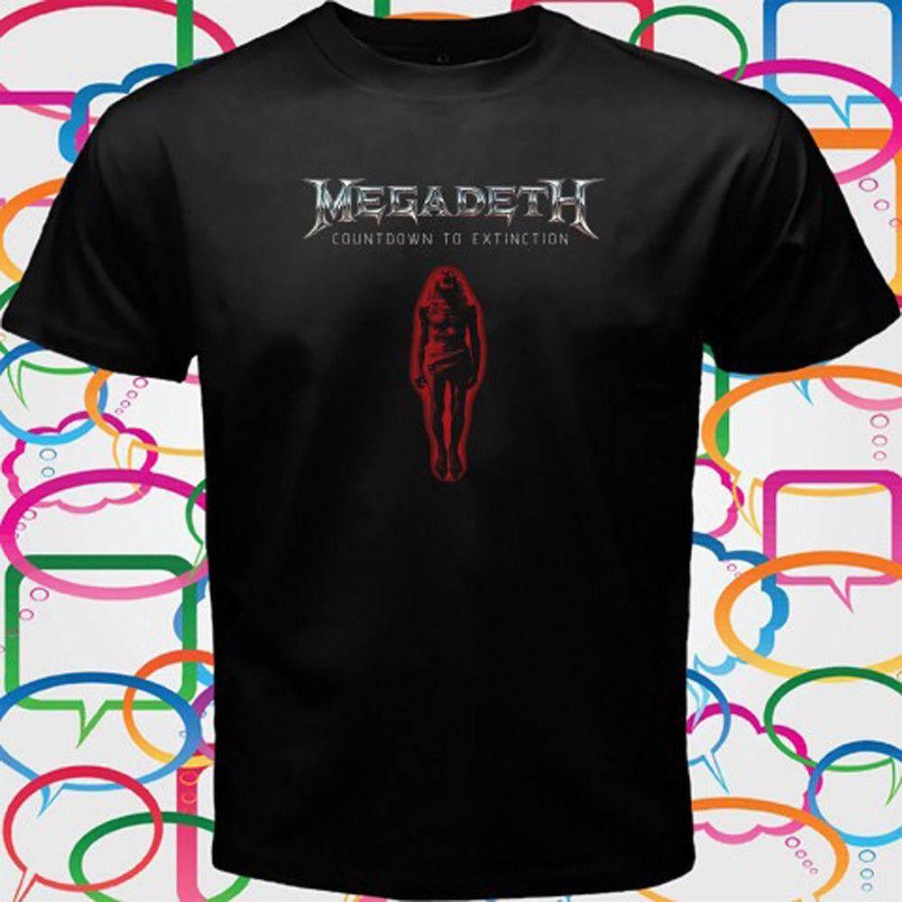 7faa27311 Hot men's t-shirt Megadeth Countdown to Extinction Album Men's Black ...