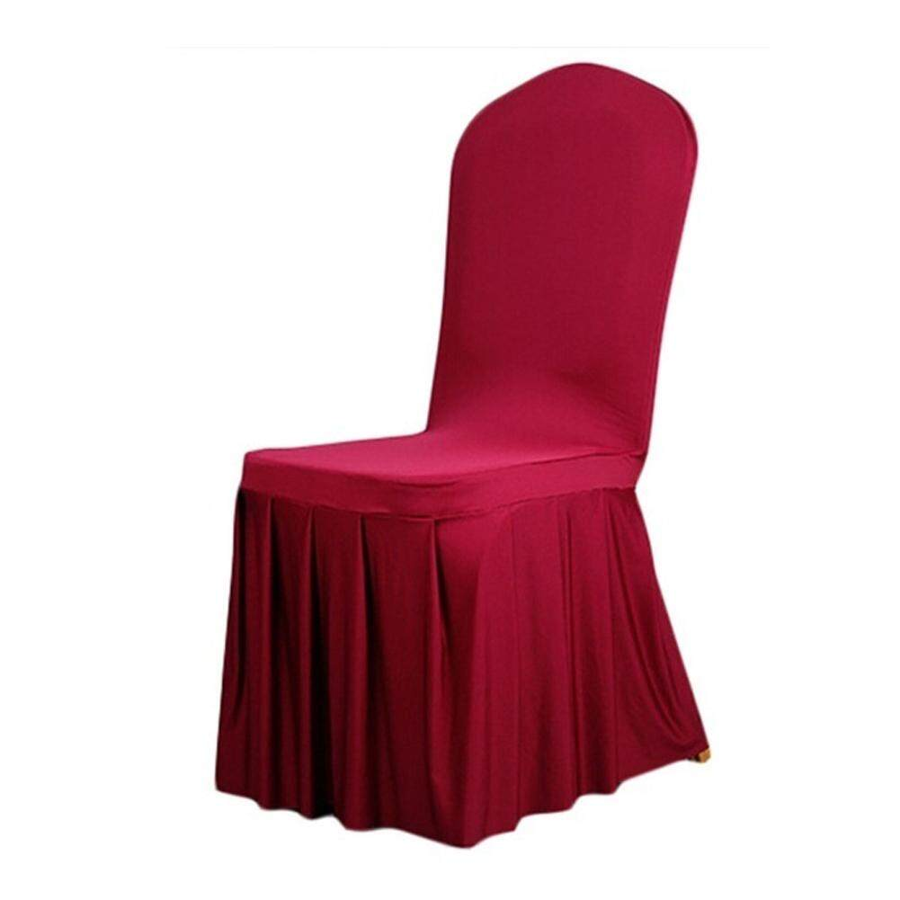 Pleated Skirt Chair Cover, Wedding Banquet Party Anniversary Dining Decoration
