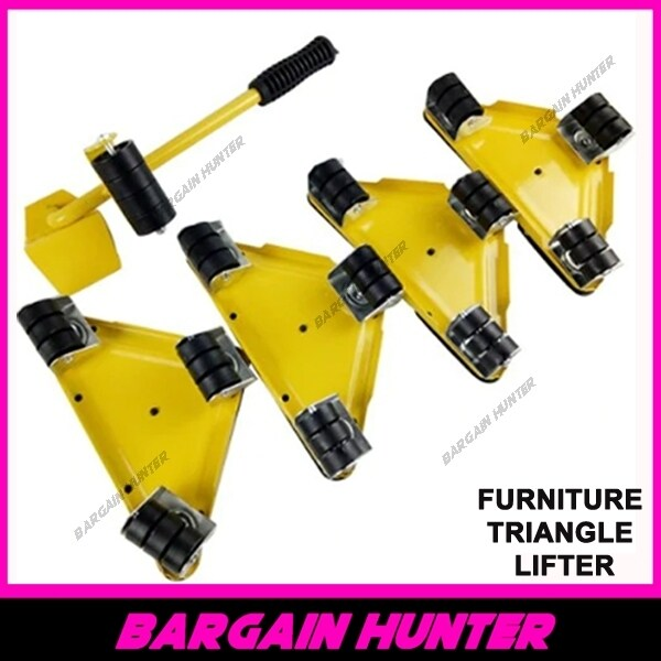 BARGAIN HUNTER - Heavy Furniture Lifter Mover Triangle Trolley / Transport Dollies/ Move Furniture Helper Heavy Furniture Lifter Mover 5pcs/set Heavy Furniture Lifter Mover Transport Lift Move Slides Trolley
