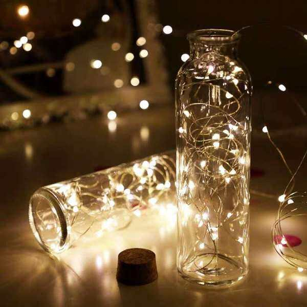 Christmas Tree Copper Wire Light String 10m 5m Led 7-color Battery Box Copper Light Wedding Christmas Party Home Decoration Lighting