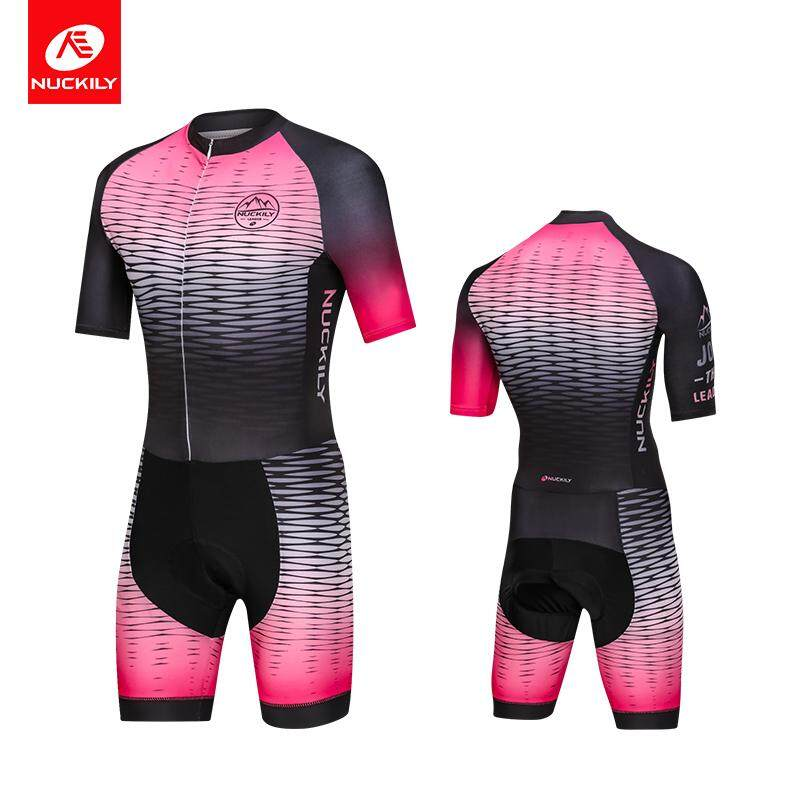 NUCKILY Men Triathlon Suit Summer Running Clothing Swimming Set Cycling Jersey