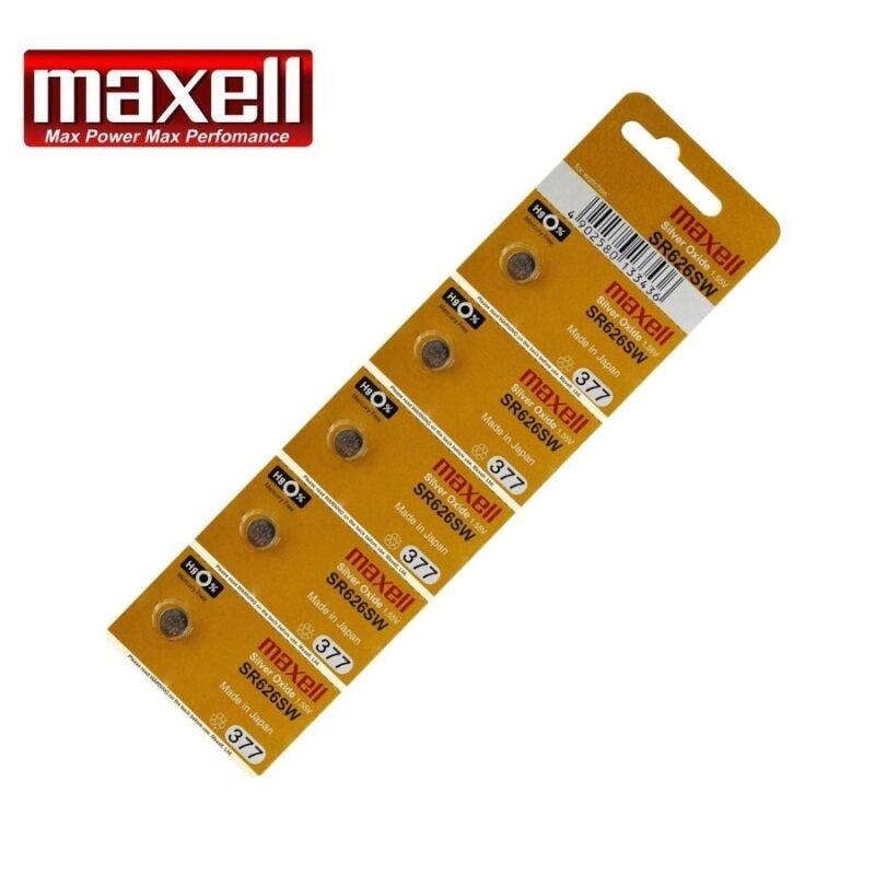 5PCS SR626SW GENUINE Maxell Silver Oxide Battery 1.55V Malaysia