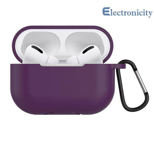 {electronicity}Dust-Proof Silicone Headset Case Box Cover Holder Anti-Fall w/Buckle for Apple Airpods Pro Singapore
