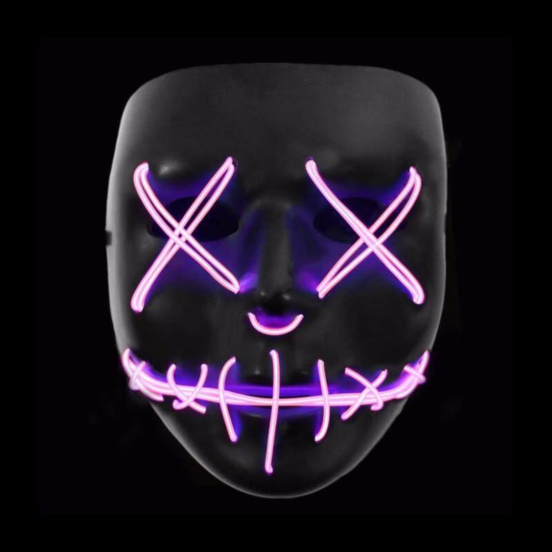 Giảm Giá Quá Đã Phải Mua Ngay Sáng Thanh Trừng Mặt Nạ Đeo Dây EL LED Halloween Cuồng Hóa Đạo Cụ Tiếp Liệu