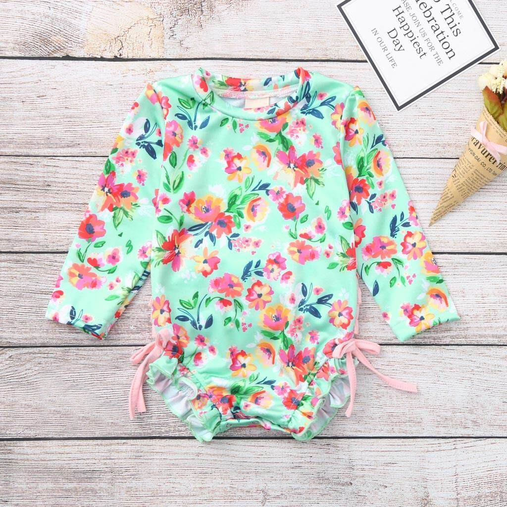 01806a2147 Lazadacarell Toddler Baby Girl Kids Swimwear Floral Printed Bikini Swimsuit  Beach One Piece