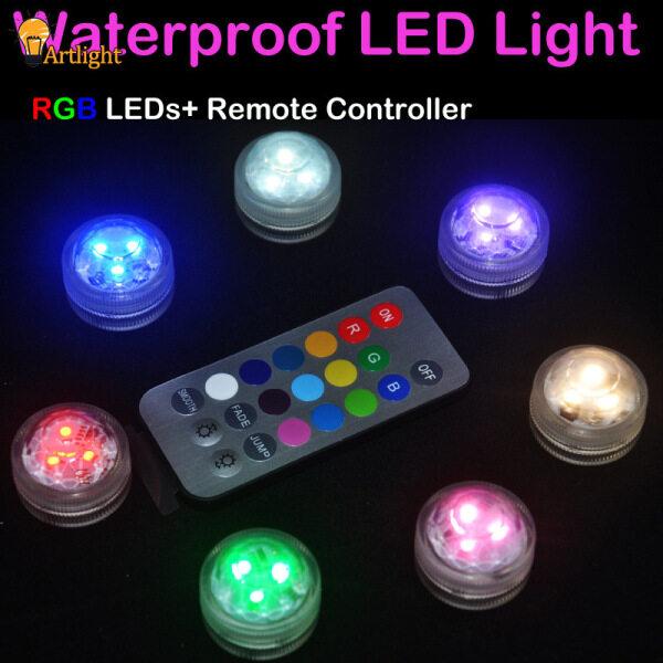 Bảng giá Đèn LED Đa Màu Điều Khiển Từ Xa Không Dây, Không Thấm Nước Bên Đèn Trang Trí Nội Thất Ánh Sáng