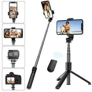 Giá Đỡ Ba Chân Gậy Selfie Tiện Dụng Có Thể Mở Rộng Với Điều Khiển Từ Xa Không Dây Có Thể Tháo Rời Và Giá Đỡ Ba Chân Gậy Selfie Tương Thích Với Mọi Điện Thoại Di Động, Kích Thước Nhỏ Gọn & Trọng Lượng Nhẹ thumbnail