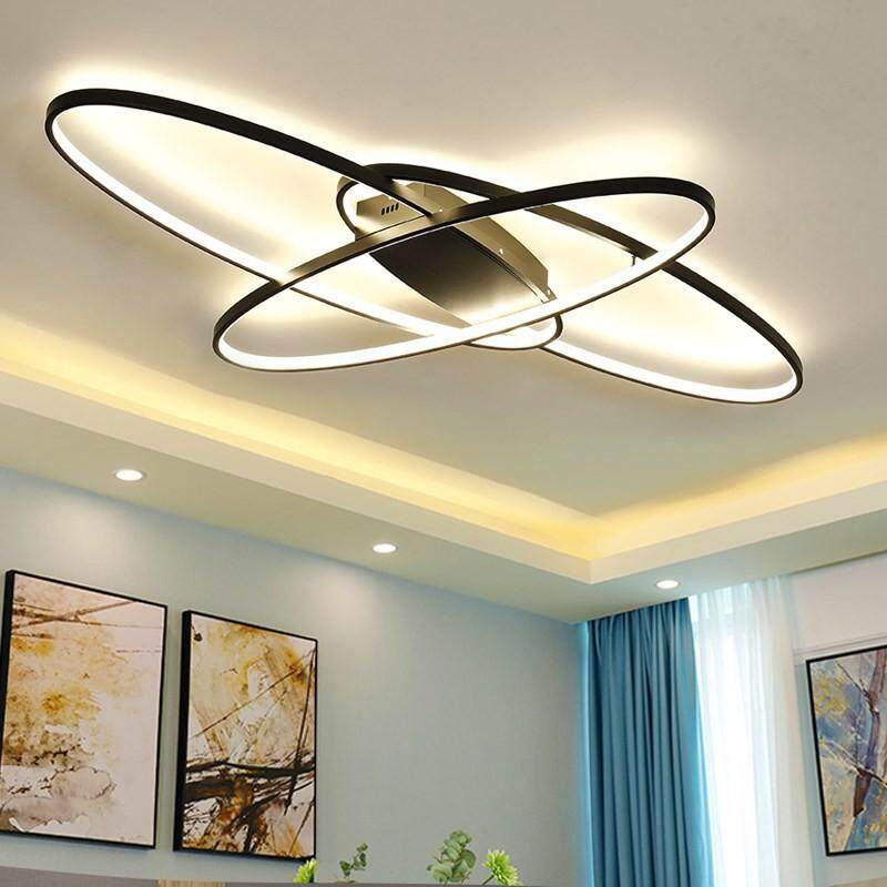 Remote control Dimming Modern LED Ceiling Lamp Fixture Aluminum Dining Living Room Bedroom Lights Humantong ilaw sa silid