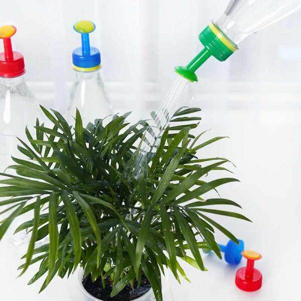 Bsex 3pcs Portable Plants Watering Pot Shower Sprinkling Water Bottle Cap Kettle Mouth PP Connectors Durable Garden Watering Tool