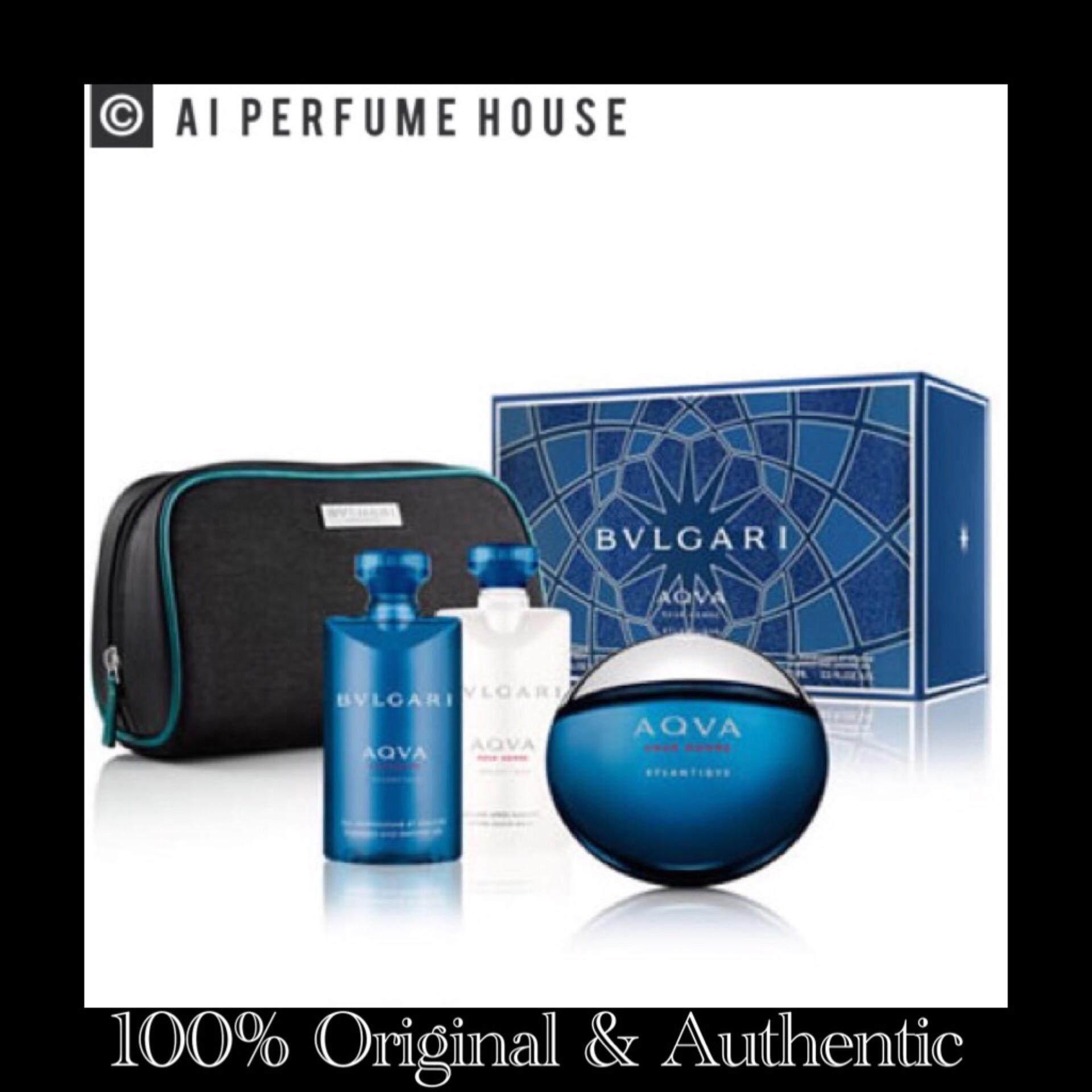 Gift Set Bvlgari Aqua Pour Homme Edt (100ml) [100% Original Perfume for Men By AI PERFUME HOUSE]