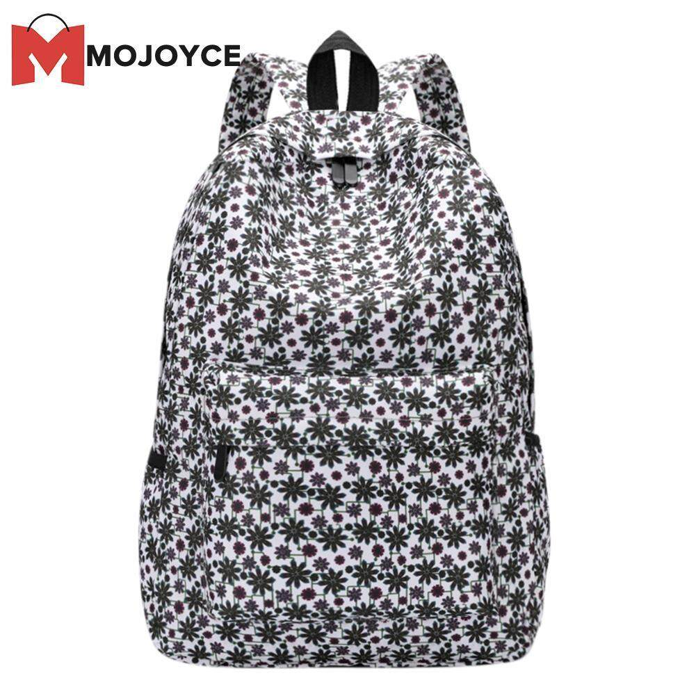 Mojoyce Fashion 3d Flowers Print Shoulder Schoolbag For Girls Casual Travel Women Backpacks(black)-B By Mojoyce Official Store.
