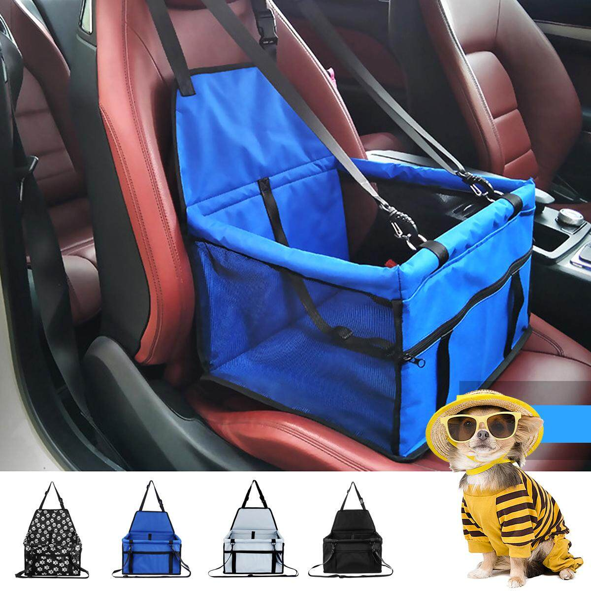 Folding Waterproof Puppy Pet Cats Dog Car Travel Booster Seat Carrier Protector - Blue By Freebang.