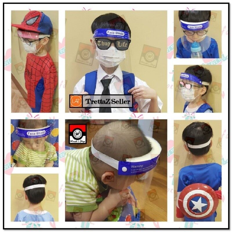Full Protective Children Face Shield Mask or Visor Mask; Kids, Children, Baby [Disposable or Reusable] (LOCAL STOCK)