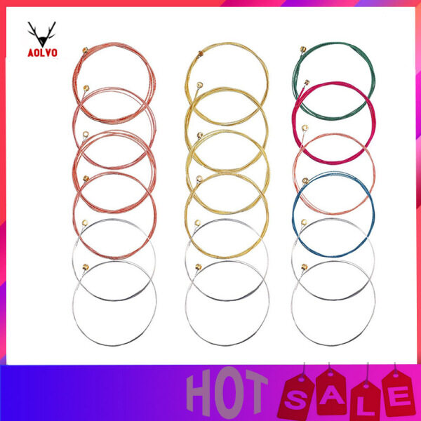 Aolvo Acoustic Guitar Strings Replacement Steel String for Guitar 1 Set Brass 1 Set Copper and 1 Set Multicolor Malaysia