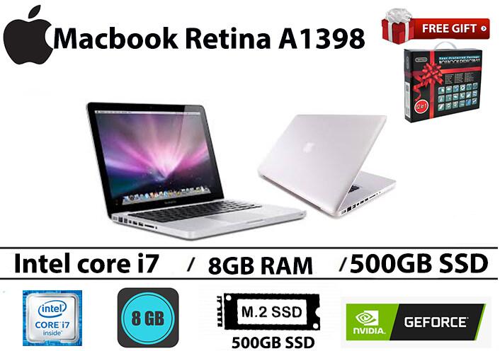 Mac book Pro Retina A1398 Intel core i7 8GB RAM 500GB SSD Nvidia Geforce GT 650M 15.4 INCH Malaysia