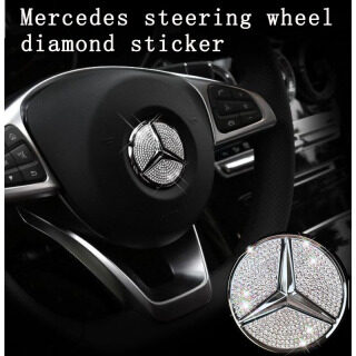 Cho Mercedes Benz AMG Logo Vô Lăng Ô Tô Miếng Dán Trang Trí Biểu Tượng Kim Cương Phụ Kiện Xe Hơi Cho A C CLA E GLA GLC GLE S B Lớp CLS (Đường Kính 45Mm) thumbnail