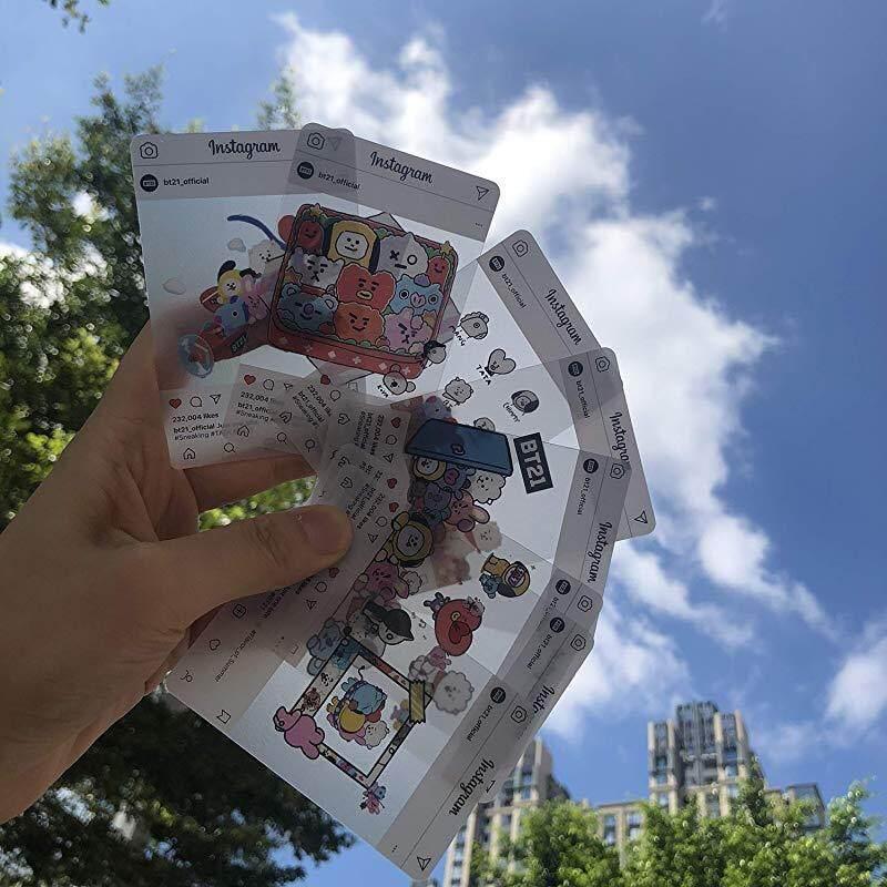 BTS BANTAN BOYS - Transparent Photo Cards 8pcs Photocards (Cartoon) , Cartoon
