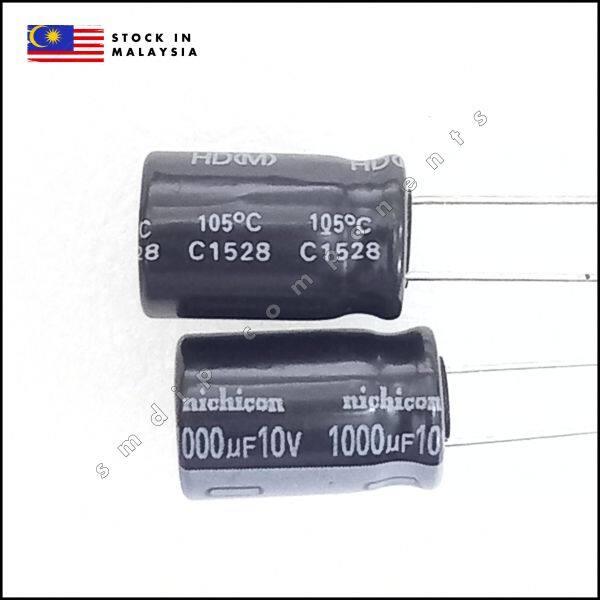 Nichicon, 1000uF 10V 105°C, Radial Capacitor, 10mm x 16mm