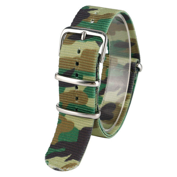 AIKEN 22mm Nylon Fabric Canvas Double Camouflage Wrist Band Strap Spring Bars Malaysia