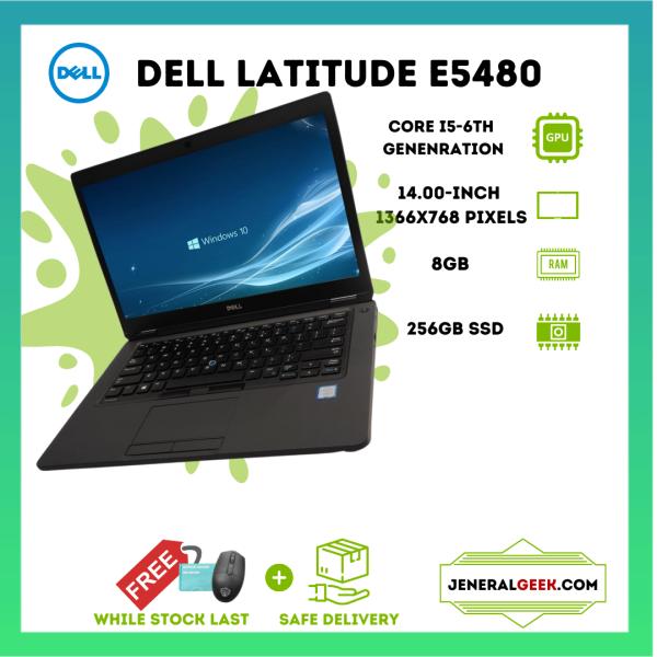 LAPTOP DELL LATITUDE E5480 - i5 6TH GEN - 8GB RAM - 256GB SSD Malaysia