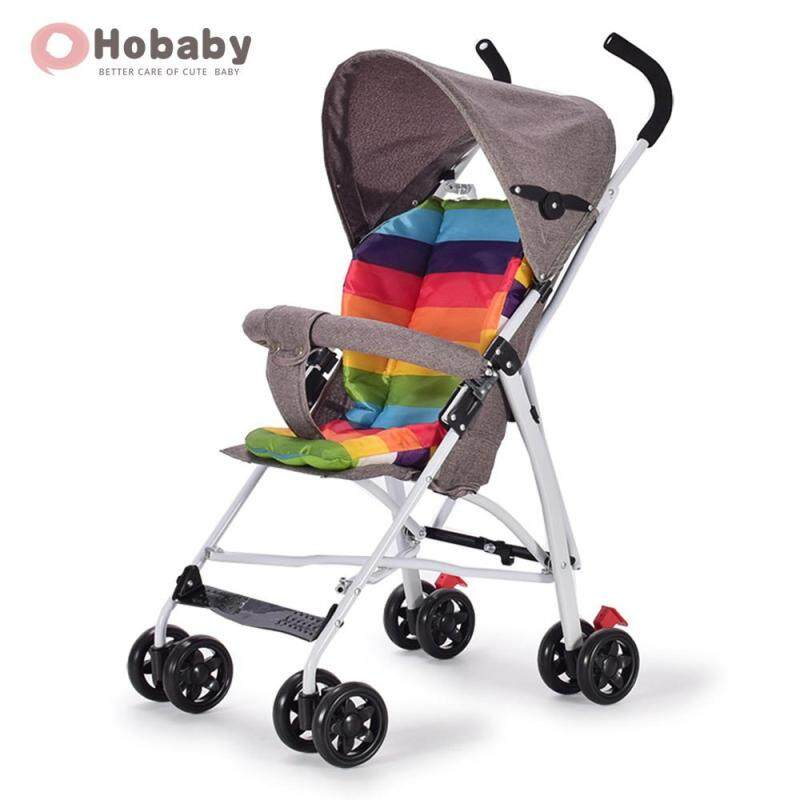 Hobaby Summer Simple Baby Stroller Foldable Anti-shock Light Infant Baby Stroller Pushchair With Cotton Pad Singapore
