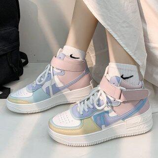 Giày Nữ Thời Trang Hàn Quốc Da Không Thấm Nước Ins Giày Thể Thao Đế Dày Tăng Giày Thông Thường thumbnail