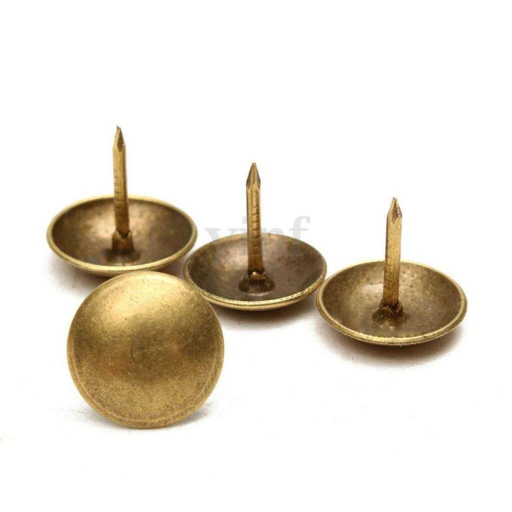 Blesiya 100Pcs Antique Bronze Upholstery Nails thumbtack Studs/Tacks/Pins 7/10/11mm