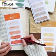 Giấy ghi chú Winzige màu sắc đa dạng kiểu dáng dễ thương kích thước: 61*114mm (Sản phẩm gồm 1 cuốn có 20 tờ vui lòng chọn đúng màu cần mua) – INTL