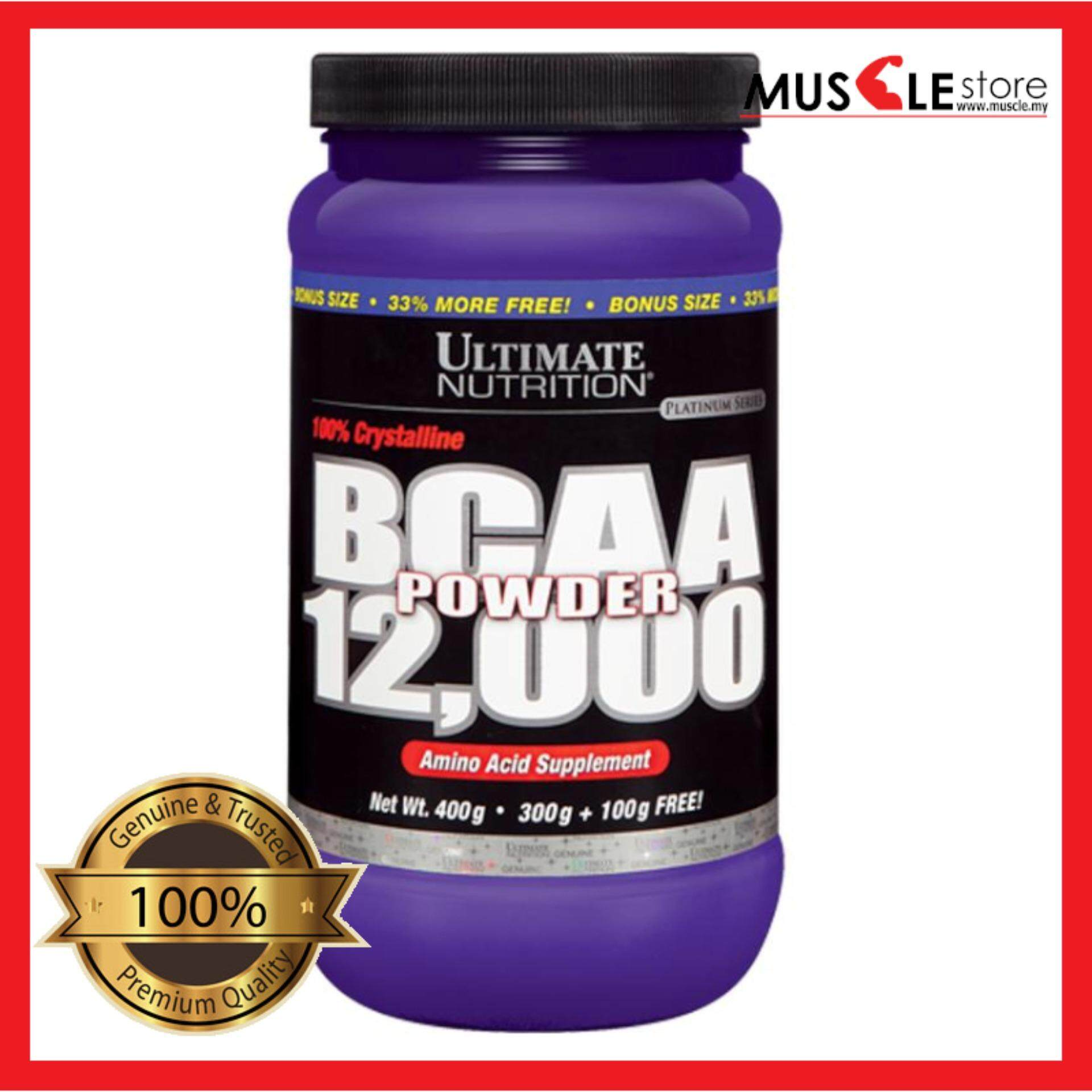 Ultimate Nutrition 100% Crystalline Bcaa12000 400 Guf By Centuryfitness.