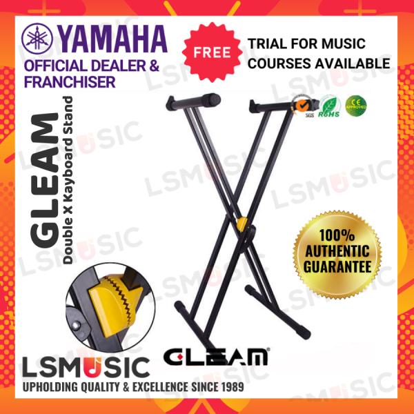 Gleam Double X Keyboard Stand Gear Lock GKS-002 Malaysia