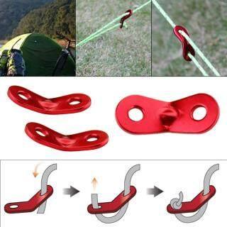 PEXELS 10 Cái Red Lock Rope Căng Thẳng Guy Line Bent Runners Lều Cắm Trại Ngoài Trời thumbnail