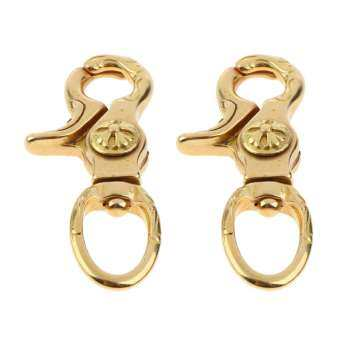 MagiDeal 2x ทองเหลือง Lobster Clasps คลิปตะขอหมุนพวงกุญแจแขวนกระเป๋าหัตถกรรมผลการค้นหา 12 มม.-