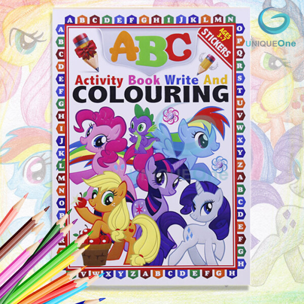 [Ready Stock ] ABC Activity Book Write And Colouring With Sticker/early learning kids book Malaysia