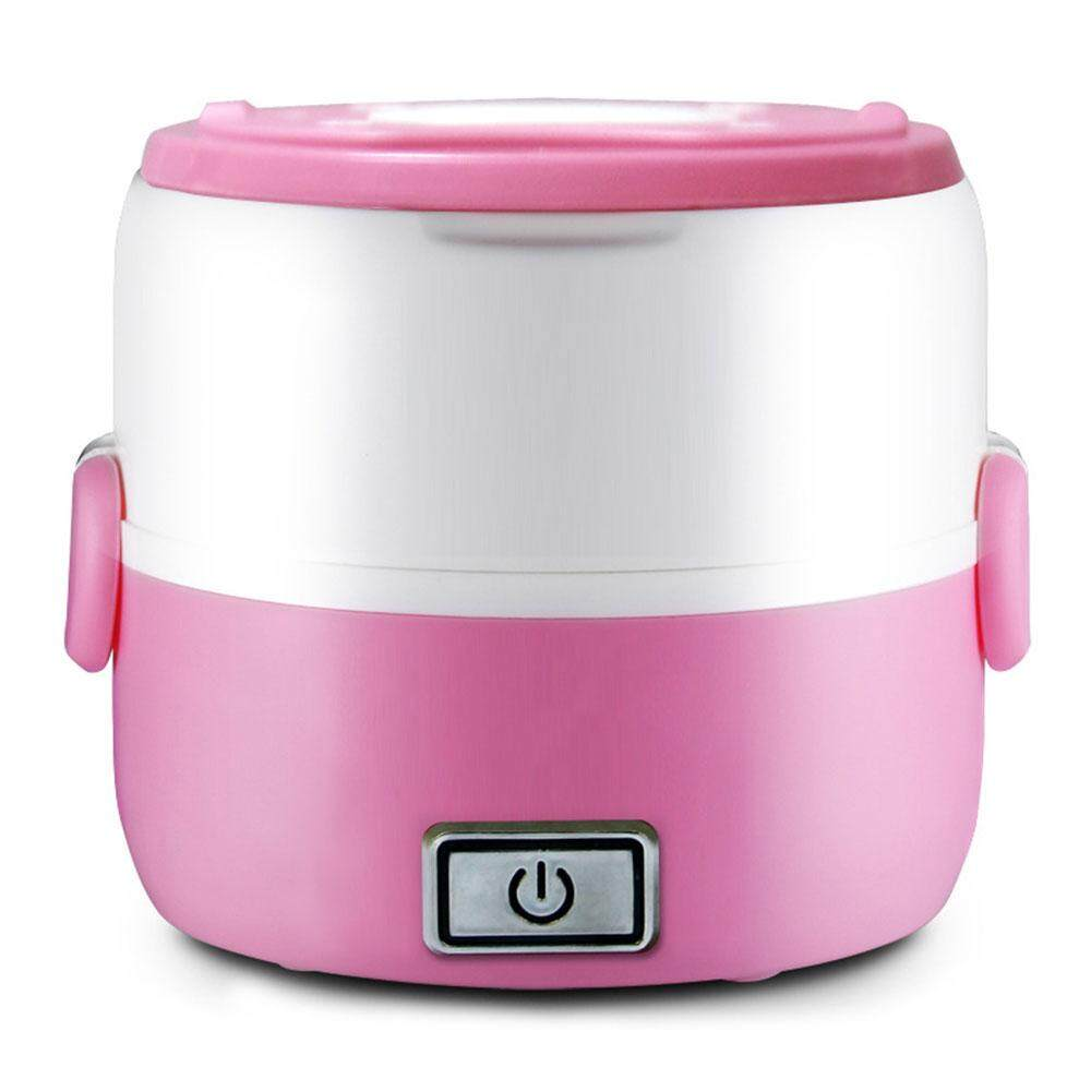 Electric Cooker Mini Rice Cooker Portable 200W 2-3 Layers Pink Multifunctional Heating Food Steamed Rice
