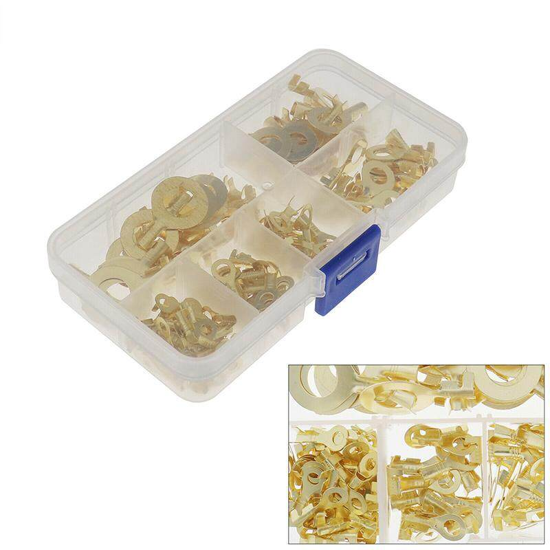 150pcs Brass Ring Terminals Cable Terminals Wire Eyes Ring Crimp Connector