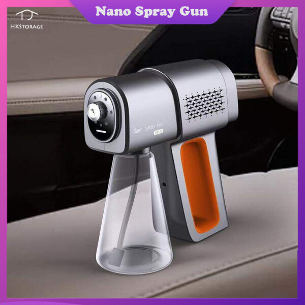 HKStorage 380ml Spray Fogger Machine Rechargeable Cordless Steam Atomizing Sprays Nano Blu-ray ULV Hand Sprayer with 500ml Bottle for Disinfecting Suitable for Home Office Hotel Car