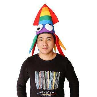 OEM Funny Octopus Rainbow PARTY หมวกหมวก Carnival เดรสเครื่องแต่งกายแฟนซี-