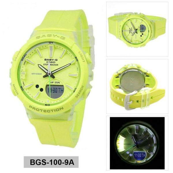 {Special Offer} Casio_Baby_G_BGS-100-1A STEP TRACKER Resin Sport Fashion Women Watch Full Set All Colour Available Ready Stock Malaysia