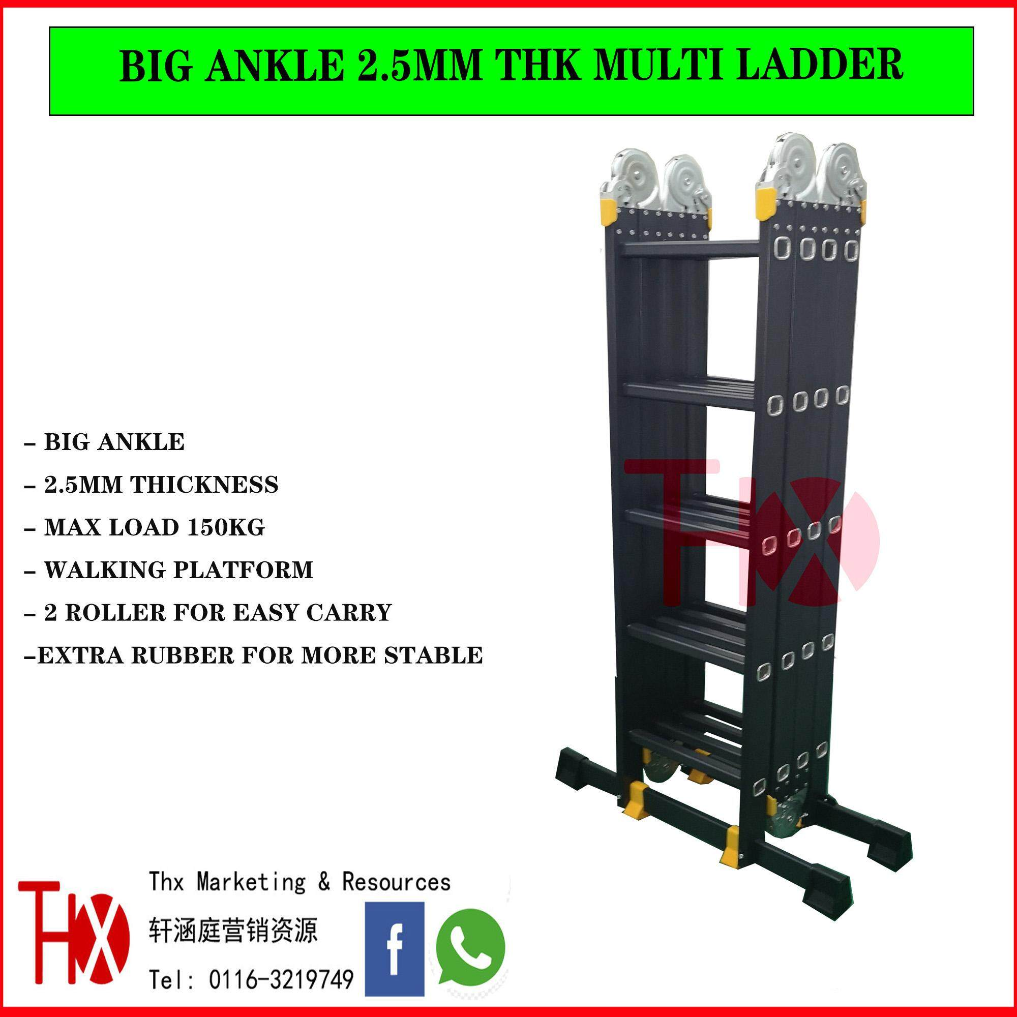 20Ft Extra Heavy Duty Multi Purpose Ladder With Walking Platform 2.5mm Thickness